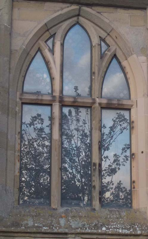 St Mary's windows reflections 2