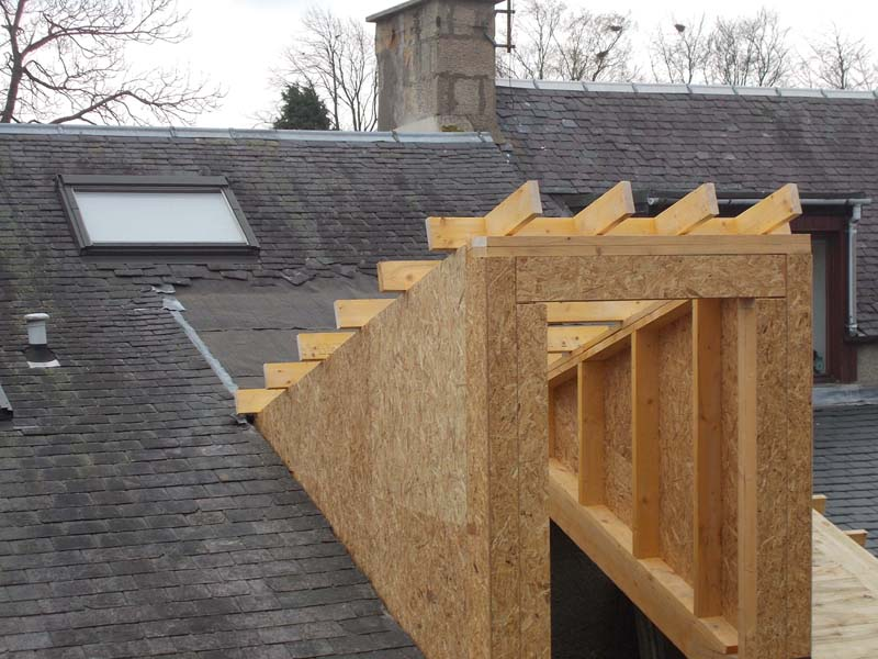 cc) the new dormer roof with cheeks