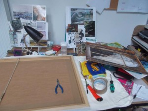 framing ready for Open Studio event